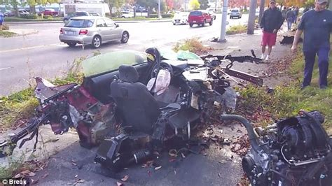 Mustang Is Destroyed In Seattle Crash But Driver Walks