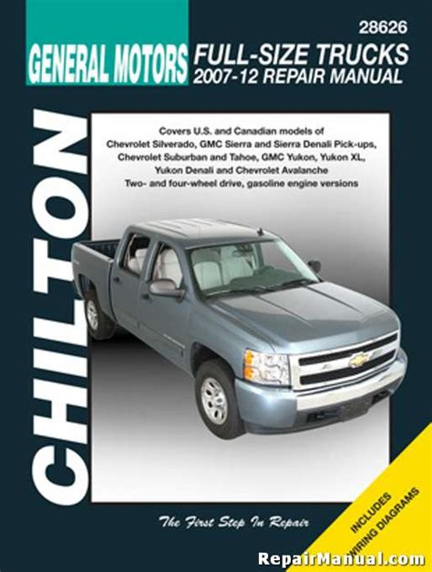 free car repair manuals 1998 gmc suburban 2500 seat position control chilton 2007 2012 chevrolet silverado gmc sierra repair manual