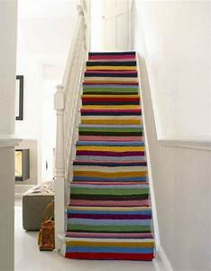 Tapis Escalier Ikea : colourful stair runner studio inspiration pinterest painted staircases staircases and ~ Teatrodelosmanantiales.com Idées de Décoration