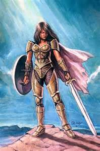Anime Medieval Warrior Girl