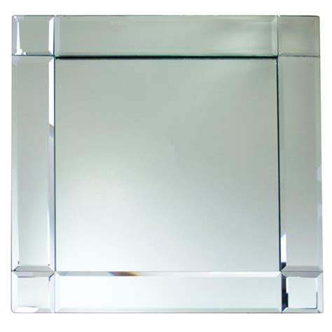 """The Jay Companies 1330052 13"""" x 13"""" Square Deco Glass"""