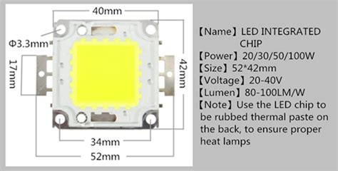 High Power 100w Led Smd Chip Bulb With Waterproof Driver
