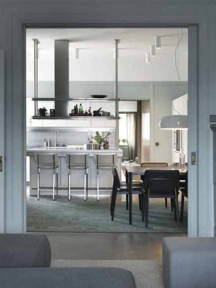 Wohnung mit schönen graugrünen Wände  Wohnideen einrichten