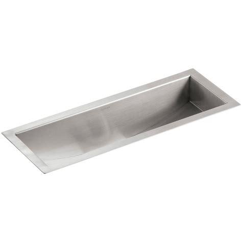 stainless steel trough sink kohler undertone undermount stainless steel 22 in single