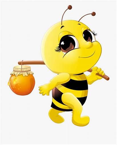Cartoon Bee Clip Clipart Transprent Bumble Netclipart