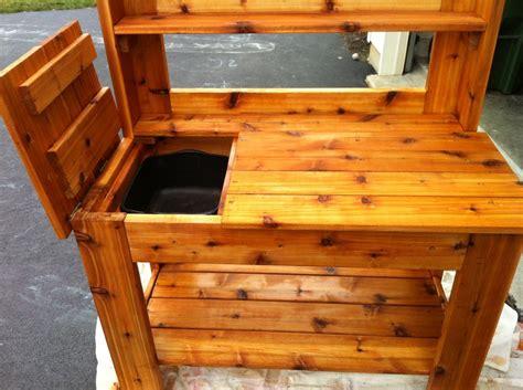cedar potting bench  jimi  lumberjockscom