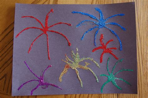 preschool crafts for 4th of july glitter fireworks 878 | DSC 1442