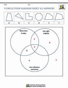 3 Circle Venn Diagram Sheet 4 2 Answers In 2020