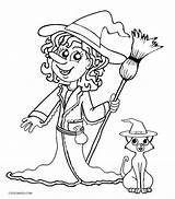 Witch Coloring Pages Witches Printable Sheets Halloween Drawing Pretty Cool2bkids Scary Head Getdrawings Template sketch template