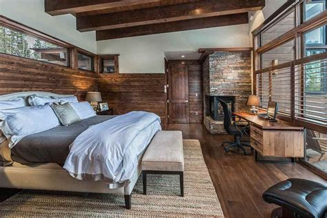 Stone And Wood Make A Dark, Masculine Interior : Stunning Masculine Bedroom Ideas (colors & Designs