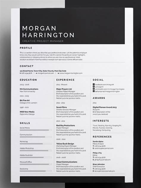 Amazing Resumes by 50 Awesome Resume Templates 2016