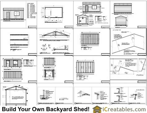 Shed Plans 16x20 Free by Pdf 16 X 24 Garage Plans Free Plans Free