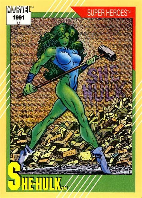 marvel universe  hulk trading card  images shehulk