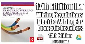 Electric Wiring For Domestic Installers 14th Edition Pdf