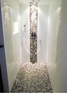 Badezimmer Fliesen Ideen Mosaik : gefliestes duschelement mit mosaik begehbare duschen ~ Watch28wear.com Haus und Dekorationen