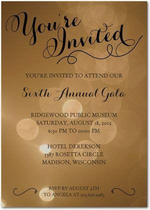Simply Sparkles Corporate Event Invitations in Black