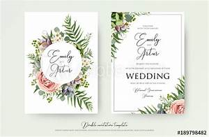 floral wedding invitation elegant invite thank you rsvp With wedding invitations you can plant