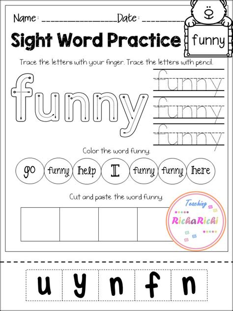 247 Best Images About Preschool Sight Words On Pinterest  Sight Word Worksheets, Assessment And