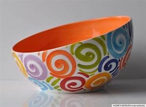 Keramik Geschirr Mediterran : bassano keramik sch ssel 24 5 cm bunte spiralen ~ Michelbontemps.com Haus und Dekorationen