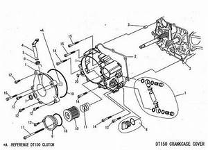 Daytona 150  02 Gasket R Crankcase Cover