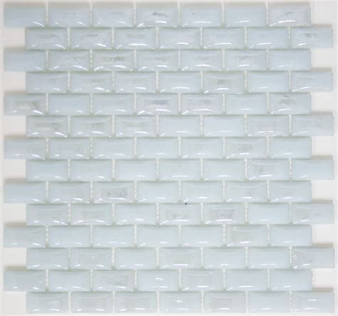 Curved White Milk Glass Subway Tile - Modern - Wall And