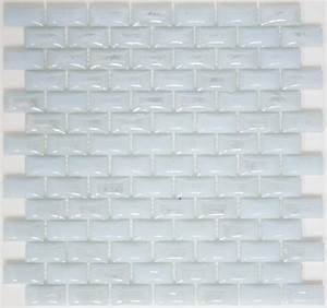 Curved White Milk Glass Subway Tile Modern Wall And