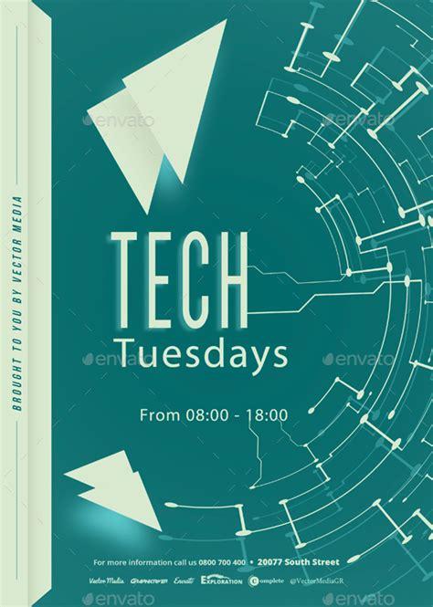 tech flyer  vectormedia graphicriver