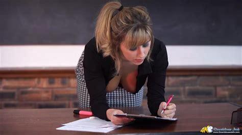 Teacher downblouse for the lucky student - MILF Porn