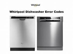 Whirlpool Dishwasher Error Codes