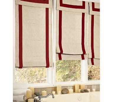 Red Ribbon Border Roman Shade