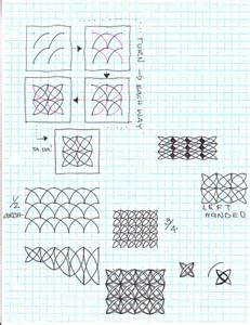 Zentangle Patterns Step By