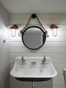 Miroir Rond Suspendu : choisissez un joli lavabo retro pour votre salle de bain ~ Teatrodelosmanantiales.com Idées de Décoration