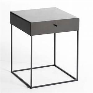 Table De Chevet Verre : hypnos metal bedside table am pm la redoute ~ Teatrodelosmanantiales.com Idées de Décoration