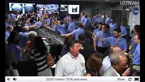 NASA Mars Curiosity Rover Live Video Landing. - YouTube