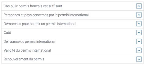 dimension garage validit 233 permis de conduire international