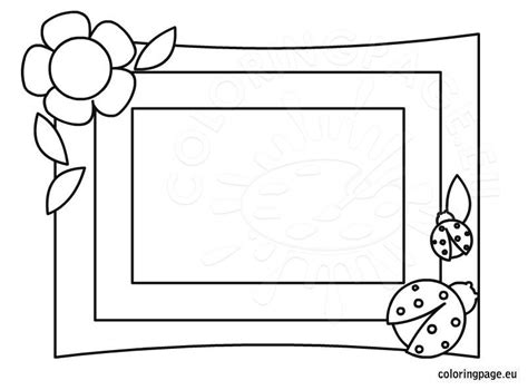 photo frame mother day coloring coloring page