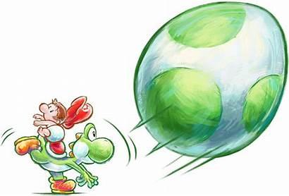 Yoshi Mario Island Artwork Throwing Yoshis Final