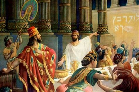 Image result for king belshazzar is slain in the bible