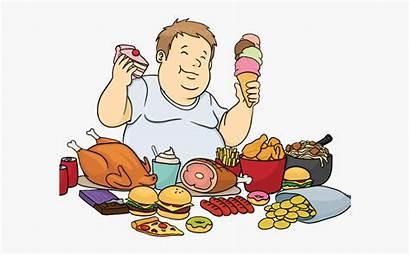 Junk Cartoon Clipart Foods Too Much Eat