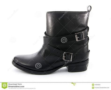 white biker boots biker boots stock photo image 44940922