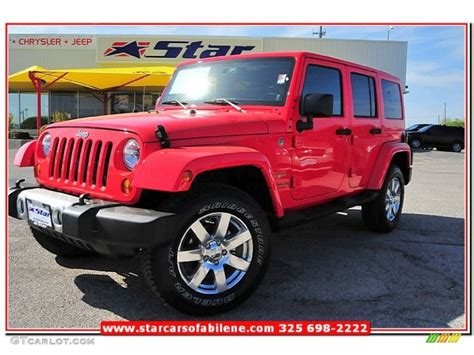jeep sahara red 2013 rock lobster red jeep wrangler unlimited sahara 4x4
