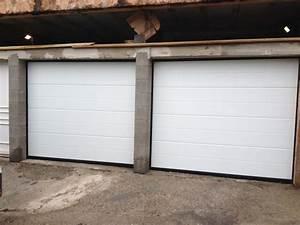 porte de garage sectionnelle plafond g60 basematic With woodgrain porte garage