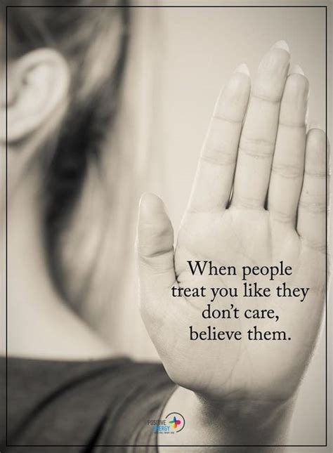 people treat  life  dont care