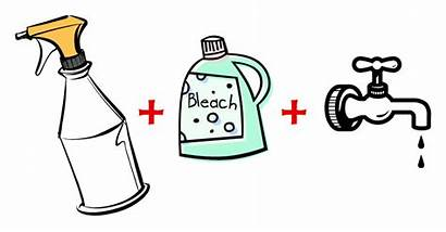 Bleach Water Clipart Cleaning Bottle Bleached Spray
