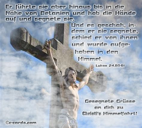 segen  christi himmelfahrt ecards greeting cards