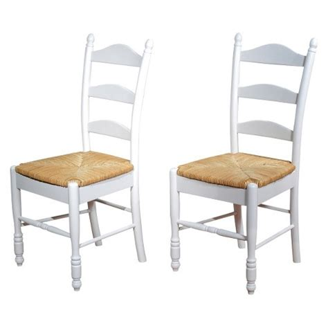 ladder back seat dining chairs ladder back dining chair wood white set of 2 tms target 9668