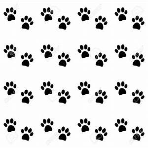 Cat paw print background clipart