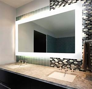 Idees d39 eclairage de miroir pour la salle de bain for Miroir pour salle de bain design