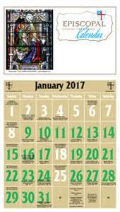 Episcopal Church Liturgical Calendar 2017