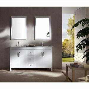 Ariel Hanson 60quot Double Sink Vanity Set With Black Granite